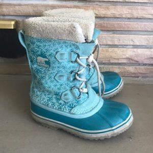 Sorel Yoot Pac Winter Boots Teal Warm Waterproof 1